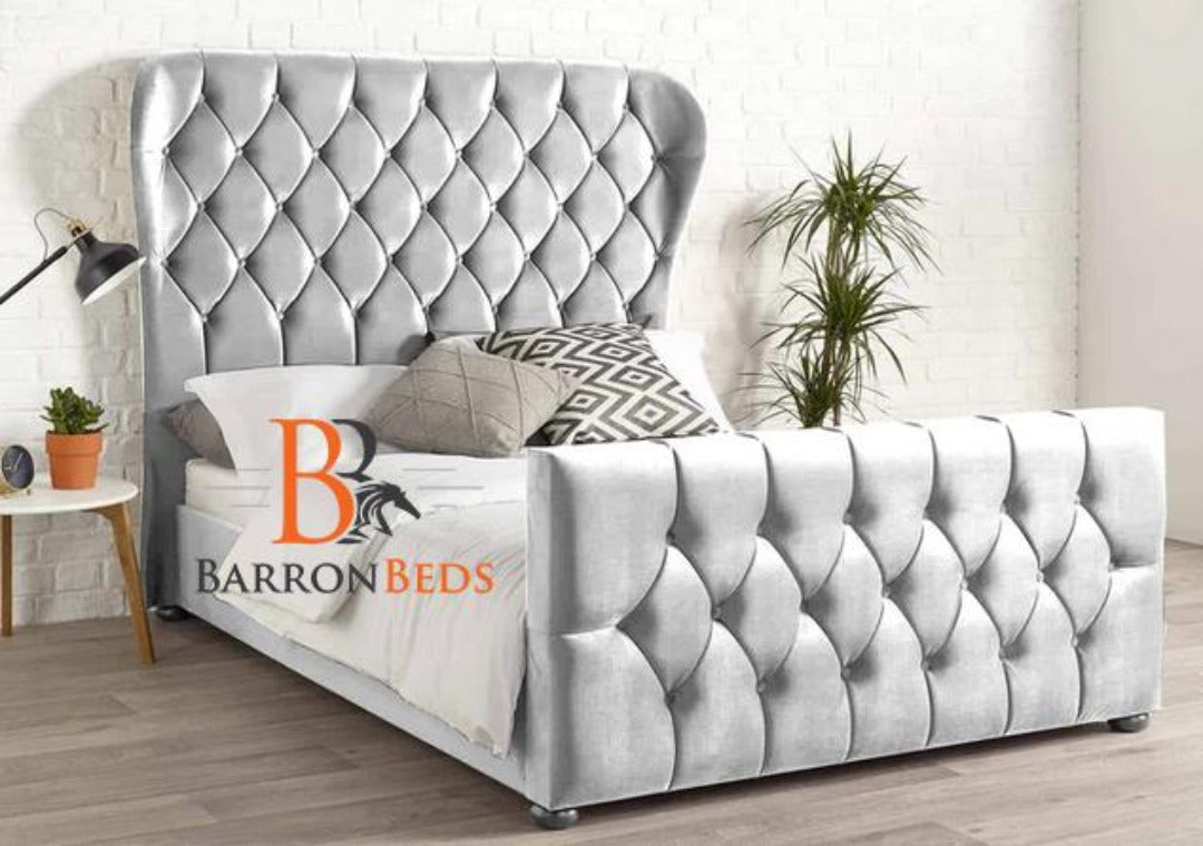 Isabel Deluxe Wingback Bed Frame Only At Barronbeds