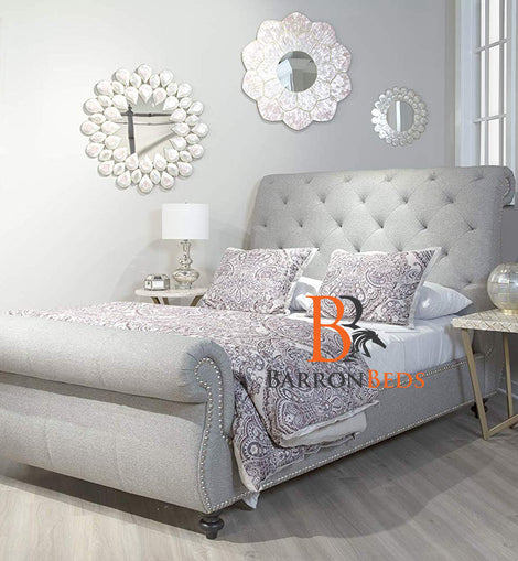 Windsor Luxurious Swan Studded Bed Frame