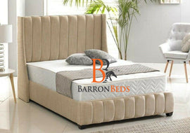 Arianna Panelled Wingback Bedframe Only at Barronbeds