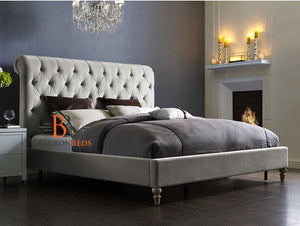 Warrington Low Foot Scroll Sleigh Bed Frame