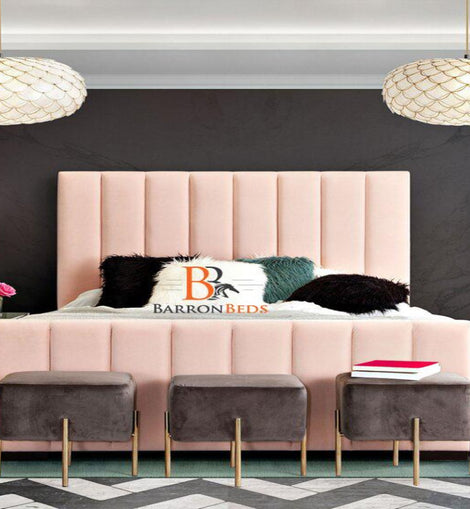 Vera Italian Modern Chesterfield Sleigh Bed Frame Only At Barronbeds