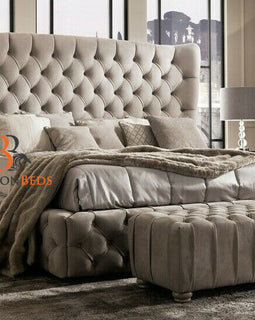 Winchester Fully Upholstered Winged Bed Frame