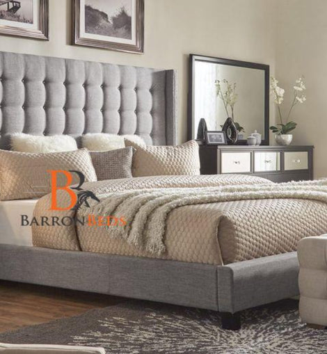 Santoria Wingback Bed Frame Only at Barronbeds