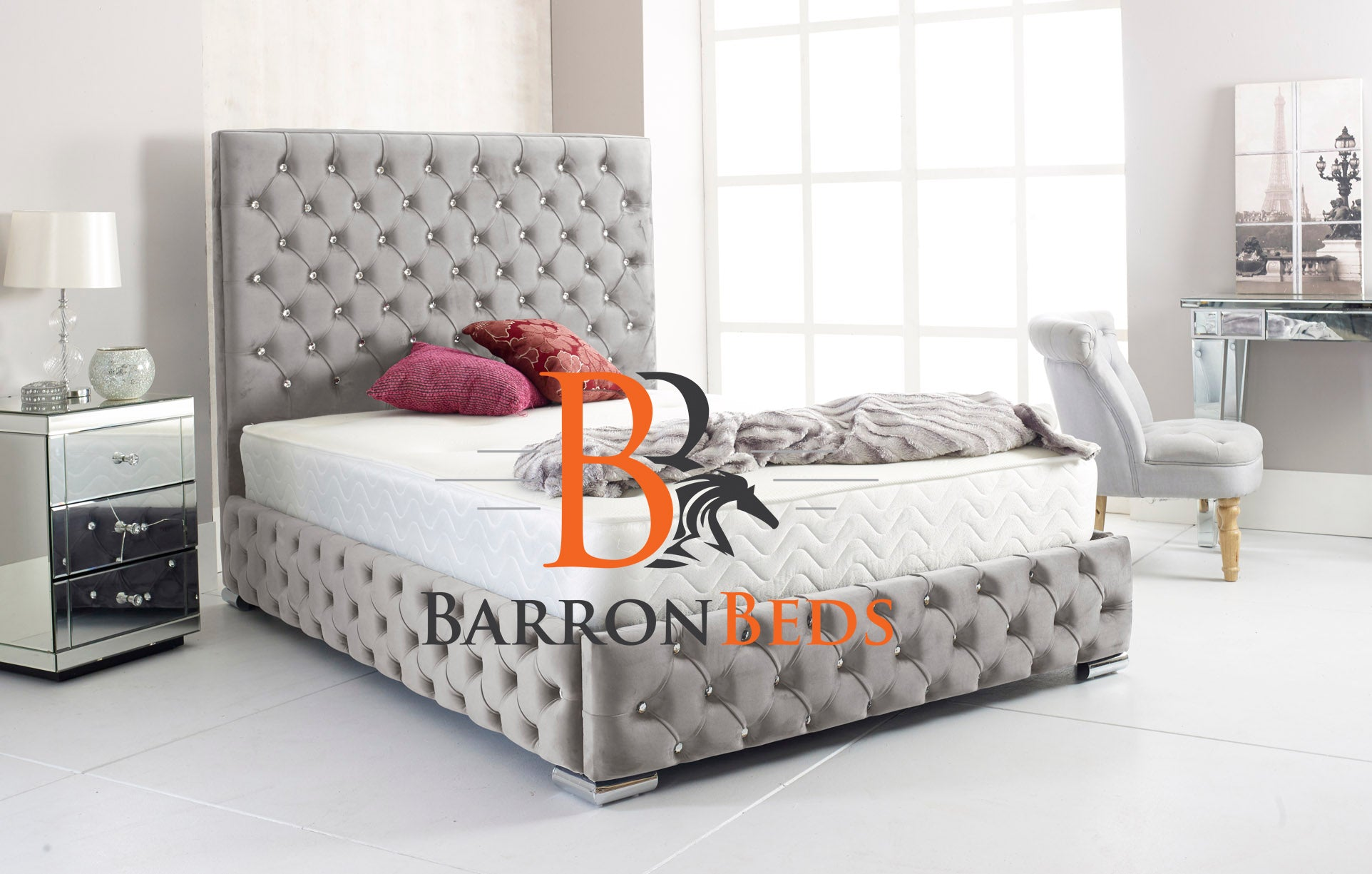 Venice Chesterfield Bed Frame Part of the Barronbeds Bespoke Range