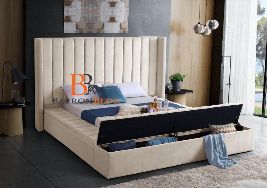 Julianna Winged Ambassador Storage Bed Frame