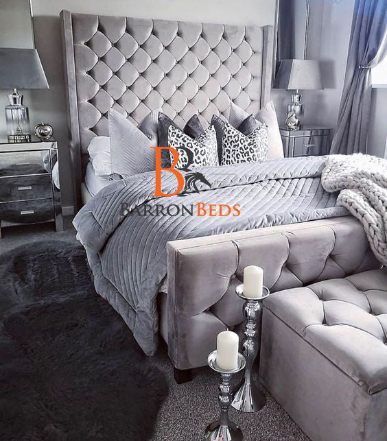 Clementine Wingback Bed frame Part of the Barronbeds Luxury Range