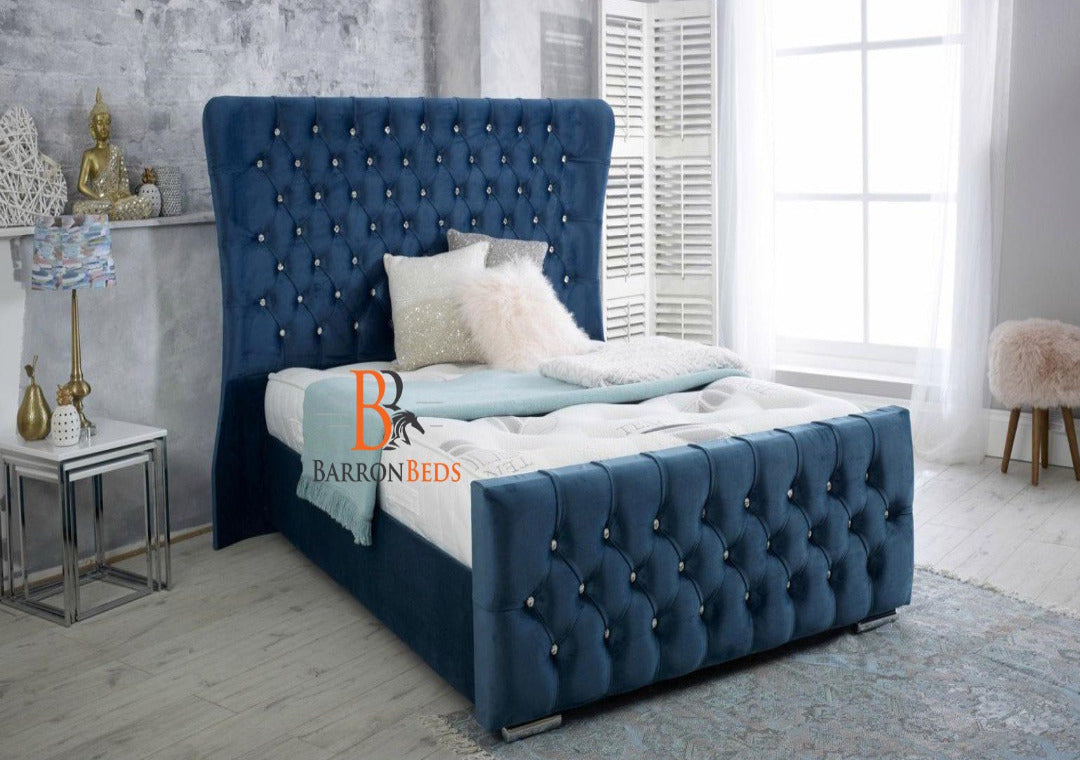 Harmony Deluxe Wingback Bed Frame Only At Barronbeds