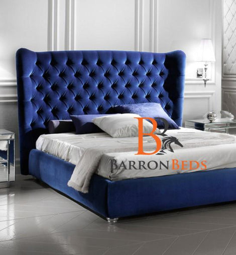 Mayfair Chesterfield Wingback Bed Frame Part of the Barronbeds Bespoke Range