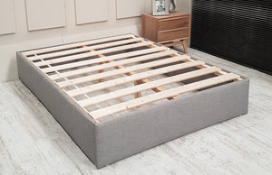 Rochelle Panel Upholstered Bed Frame With High Footboard