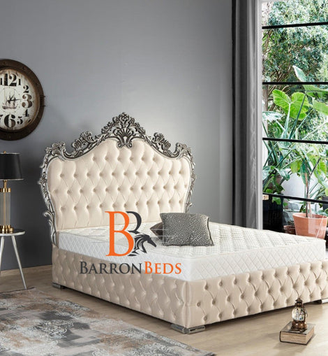 Savannah Spanish Upholstered Bed Frame Only Available at Barronbeds