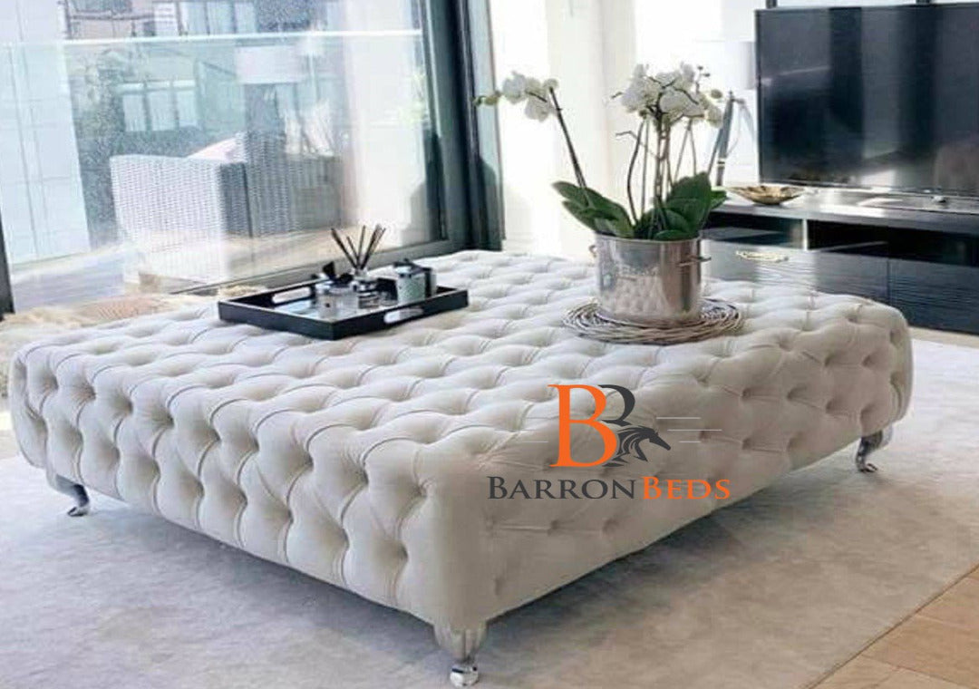 Amalia Chesterfield Coffee Table Footstool Only at Barronbeds