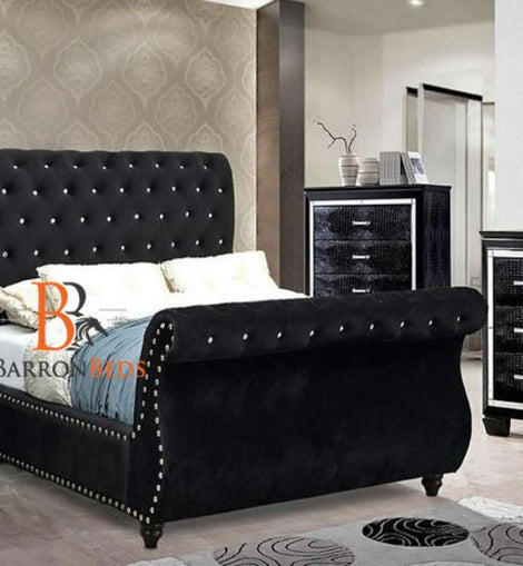 Pearl Luxurious Swan Studded Bed Frame