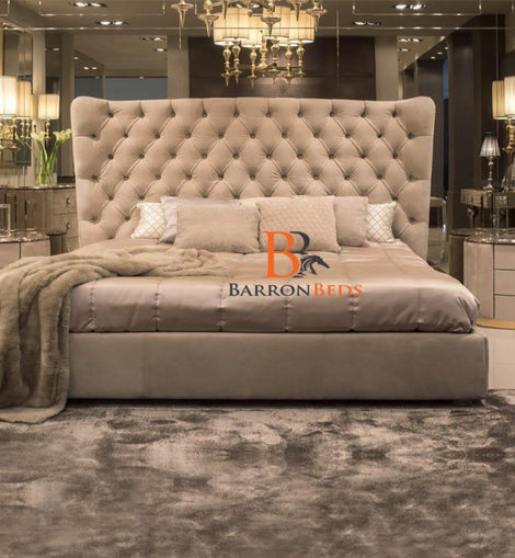 Park Lane Royal Full Chesterfield Wingback Bed Frame