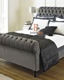 Kristie Royal Scroll Sleigh Bed Frame