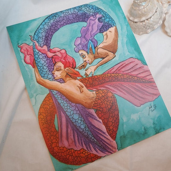 PRINT - Playful Mermaids