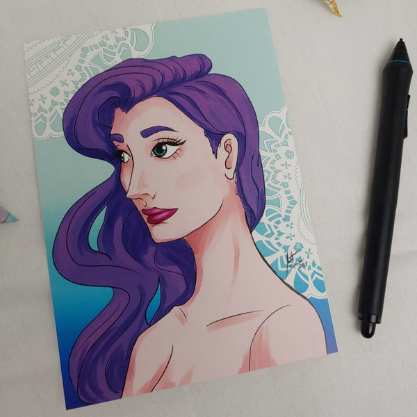 PRINT - Portrait of Violet Hair