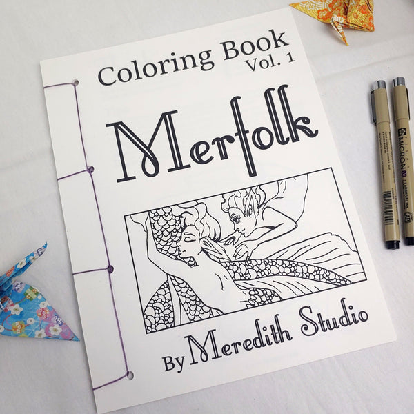 COLORING BOOK - Volume 1 - Merfolk