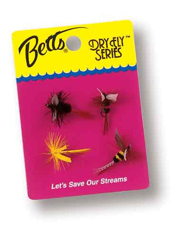 Betts Dry Fly Series 4ct Size 10