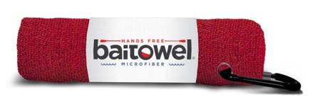 "Baittowel Microfiber 15""x15"" w-Clip Blood Red"