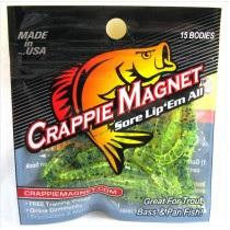 "Leland Crappie Magnet 1.5"" 15ct Chartreuse Black Flake"