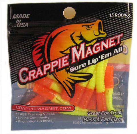 "Leland Crappie Magnet 1.5"" 15ct Orange-Chartreuse"