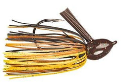 Strike King Hack Attack Fluro Jig 1-2oz Black-Brown-Amber