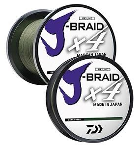 Daiwa J Braid Line x4 150yd 50lb Green