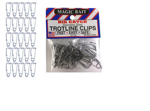 Magic Bait Stainless Trot Line Clips 25pk