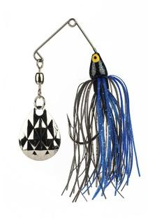 Strike King Mini King Spinnerbait  1-8 oz. Black-Blue