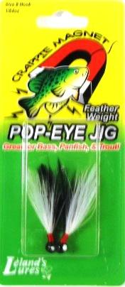 Leland Pop Eye Jig 1-64 2ct Black-White-Black