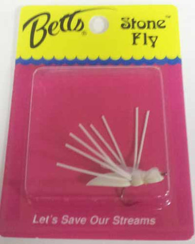 Betts Bream Stone Fly White Size 8