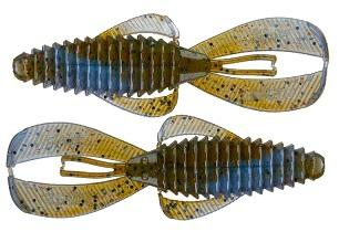 "Strike King Rage Bug 4"" 7pk Blue Craw Red Flake"