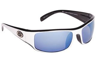 Strike King Sunglass S11 Okeechobee White-Black Blue Mirror