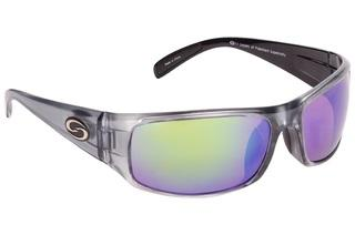 Strike King Sunglass S11 Okeechobee Shiny Clear Gray-Green Mirror Lens