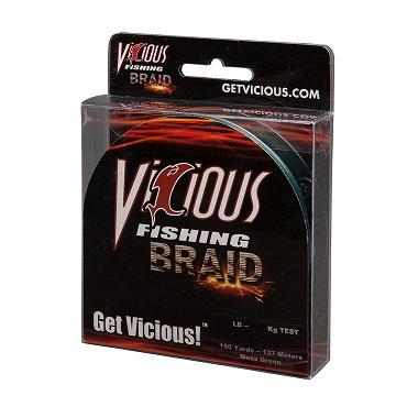 Vicious Braided Line Moss Green 150yd 10lb