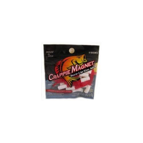 "Leland Crappie Magnet 1.5"" 15ct White-Red"