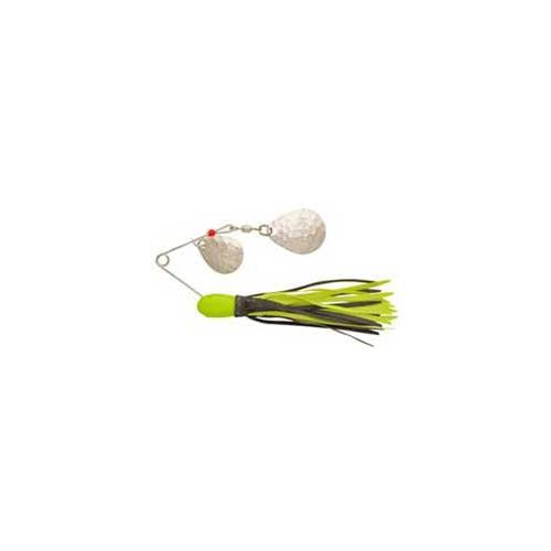 H&H Double Spinner 3-8 (6cd) Chartreuse-Black - Fishing Supply Pro