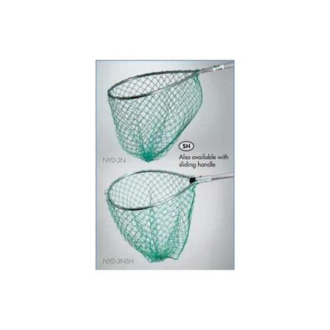 Mid Lakes Green Nylon Pear Landing Net 15x16 Bow 18 Handle