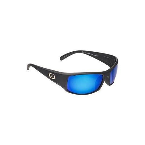 Strike King Sunglass S11 Okeechobee Matte Black-Blue Mirror