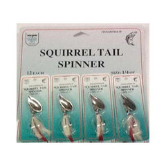 FJ Neil Squirrel Tail Spinners 1-4 White