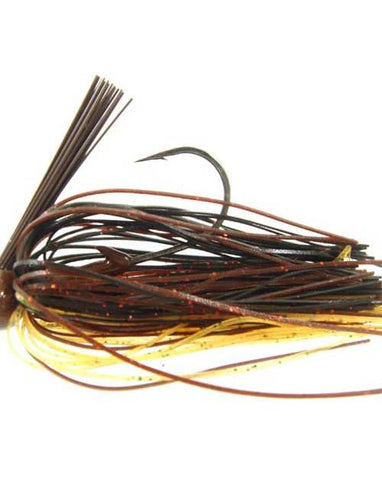 Strike King Football Jig 3-4oz Black-Brown-Amber