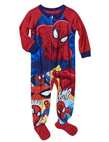 Marvel Spiderman Spidey Baby Toddler Boy's 12m - 5t Footed Pajamas