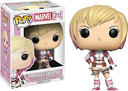 Funko POP! Marvel Unmasked GwenPool Exclusive Vinyl Bobble Head #213