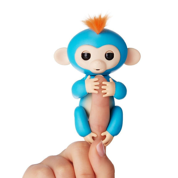 Boris blue with orange hair fingerlings baby monkey with bonus stand WowWee