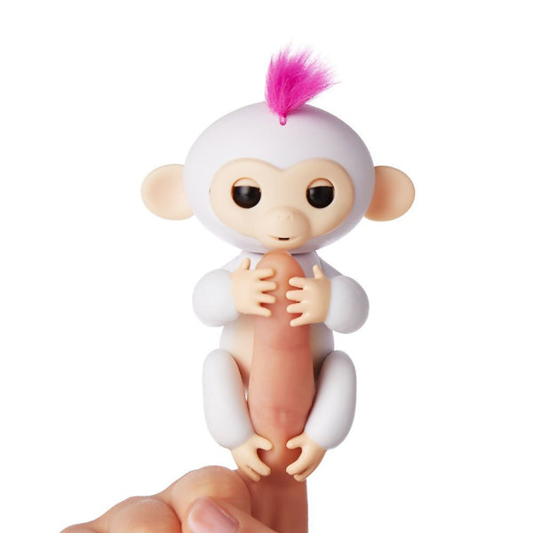 Fingerlings - Interactive Baby Monkey - Sophie (White with Pink Hair) By WowWee
