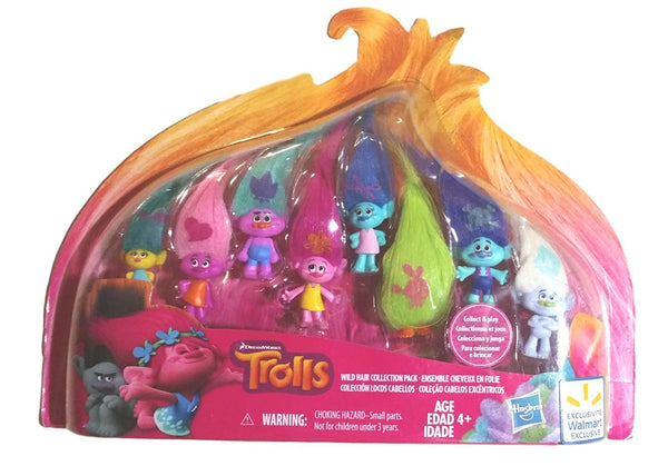 Trolls Wild Hair Collection Pack (8 Mini Trolls), 1.25 Inches