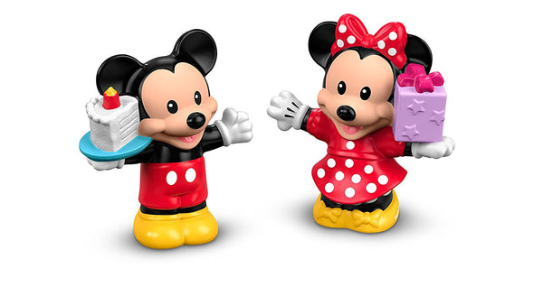 Fisher-Price Little People Magic of Disney Mickey & Minnie Birthday Party Figures