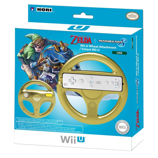 HORI Mario Kart 8 Racing Wheel Link for Nintendo Wii U and Wii