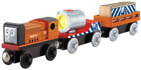 Fisher-Price Thomas & Friends Wooden Railway, Rusty to the Rescue - Battery Operated