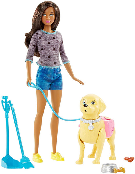 Barbie Girls Walk and Potty Pup with African American Doll